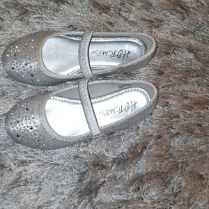 Toddler silver dress shoes